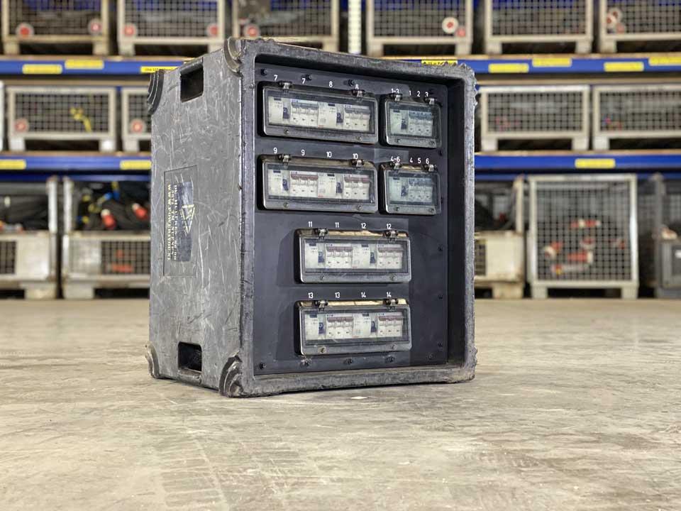 Power 4 You verhuurt verdeelkasten van 32 tot 400 Ampère.